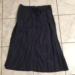 LL Bean Linen Skirt